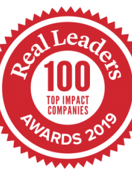 Real Leaders 100 Top Impact Companies Award 2019
